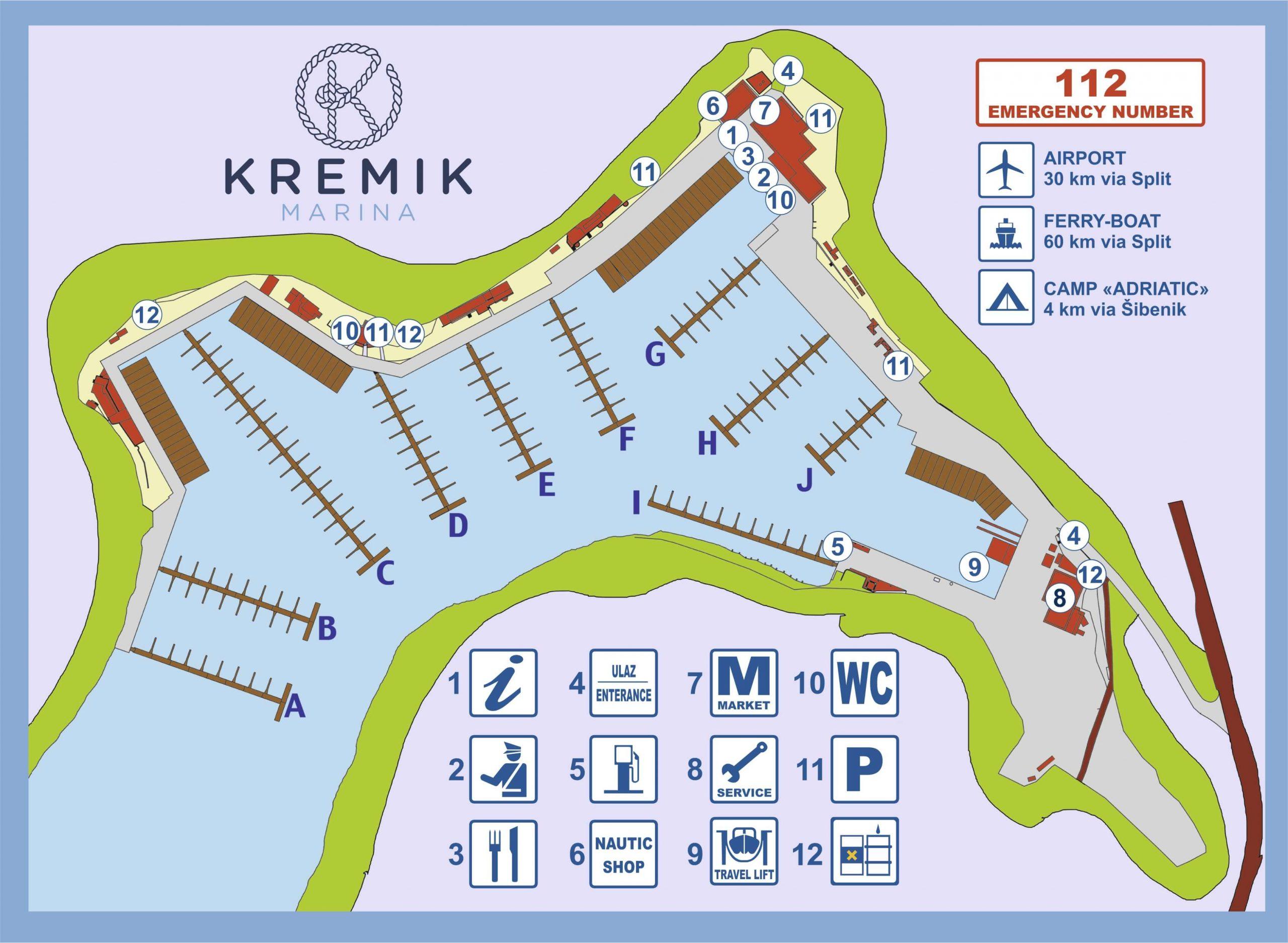 mapa marine kremik 2021 scaled - Kremik Marina