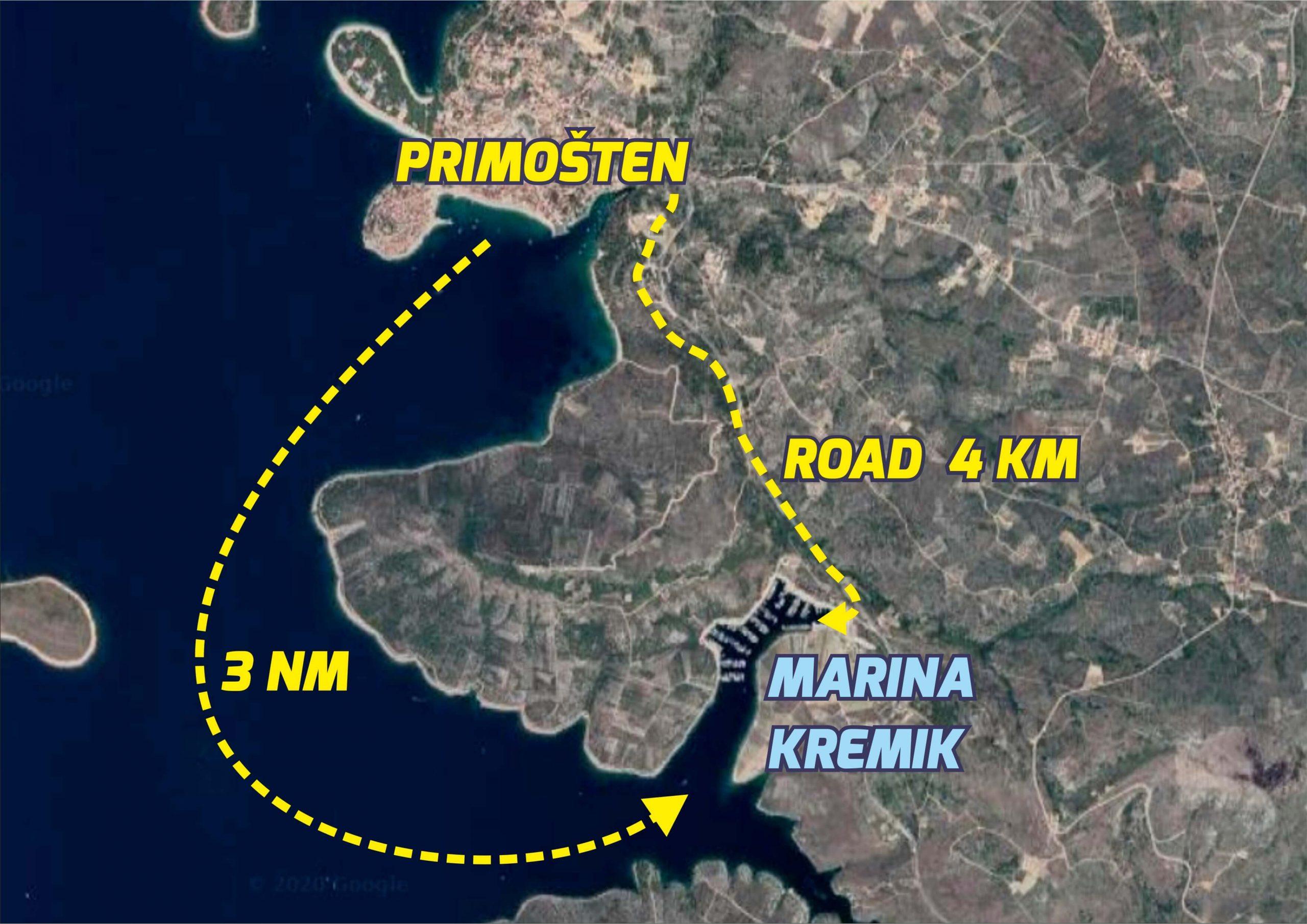 marina kremik road and sea scaled - Kremik Marina
